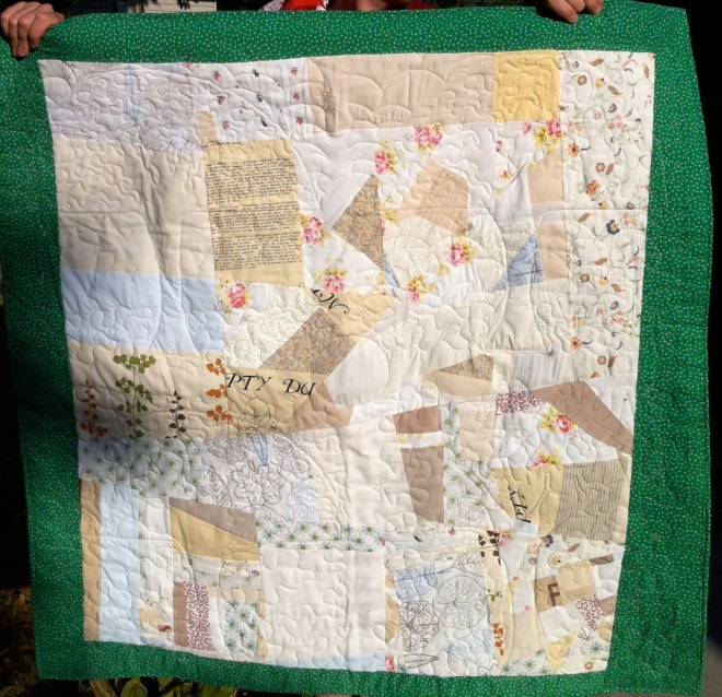seasons quilt back
