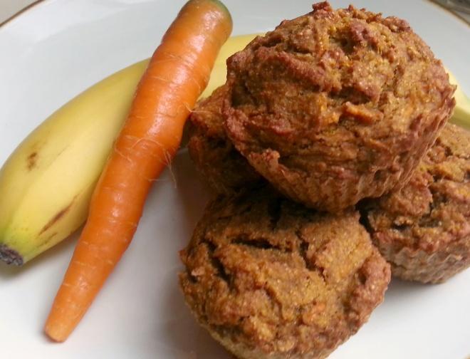 Recipe: Guiltless, delicious vegan carrot-banana muffins