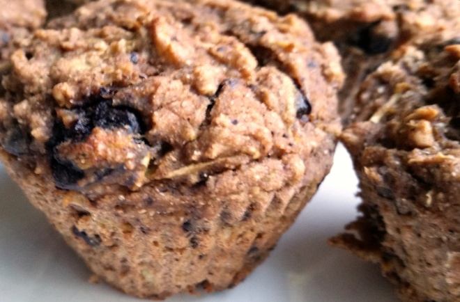 Recipe: Chocolate-chip zucchini spice muffins (vegan)