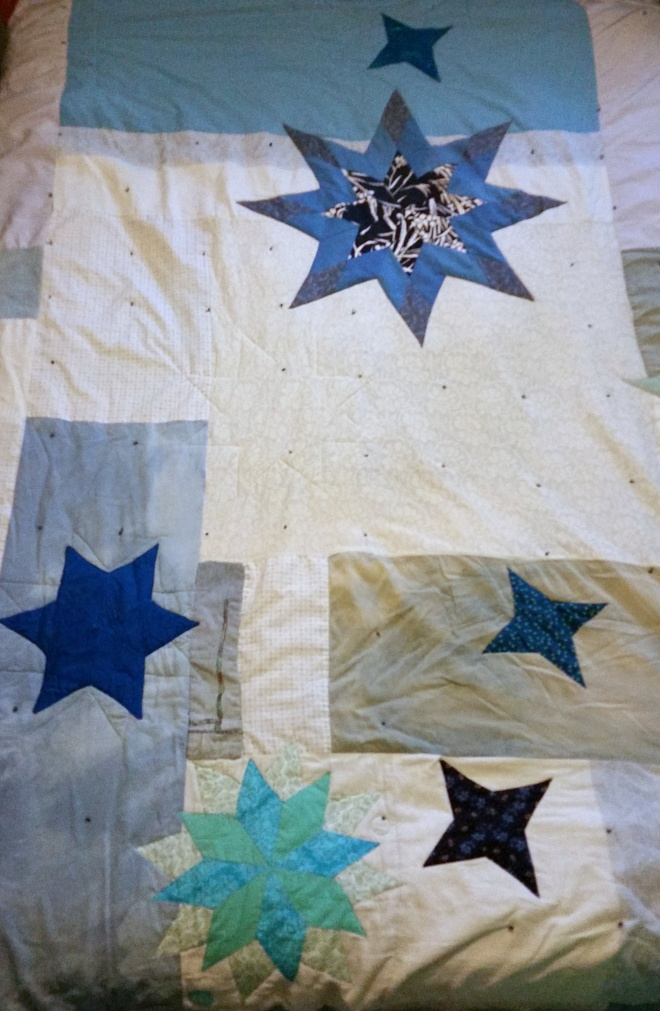 star quilt: 4-point, 6-point, 8-point and 16-point