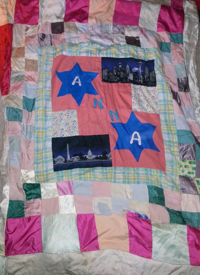found this patchwork quilt comforter in the trash