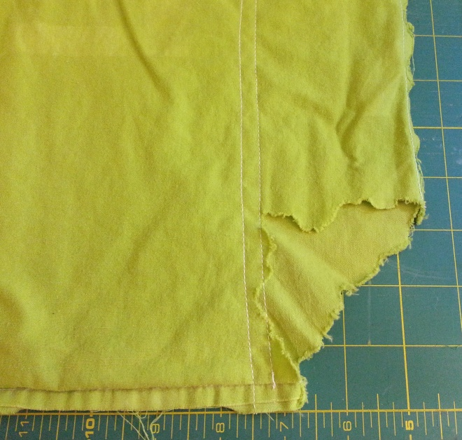 mending patching a hole in pillowcase