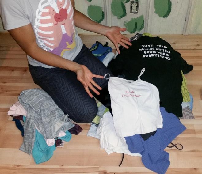 clothing swap organization – shirts