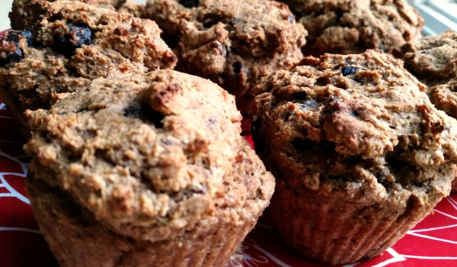 acorn squash pumpkin vegan chocolate chip muffins