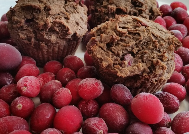 cranberry buckwheat pumpkin muffins